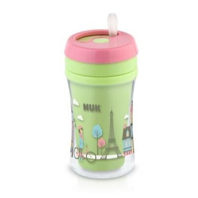 copo-antivazamento-fun-cup-nuk-270ml-verde-e-rosa