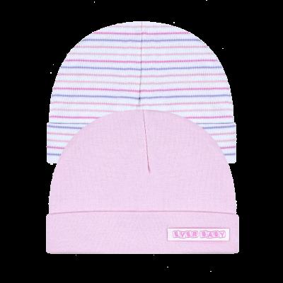 kit-touca-prematuro-2-pecas-rosa-e-branco