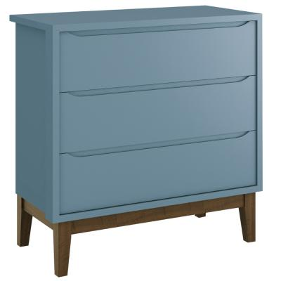comoda-classic-gaveiteiro-reller-azul-fosco-com-em-pes-madeira