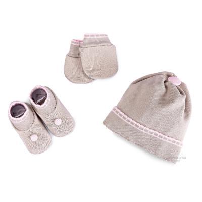 kit-touca-luva-e-sapatinho-de-tricot-para-recem-nascido-cinza-e-rosa