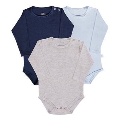 body-basico-manga-longa-kit-3-pecas-cinza-marinho-e-azul-claro