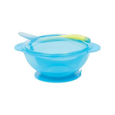 kit-prato-bowl-com-tampa-e-colher-buba-azul
