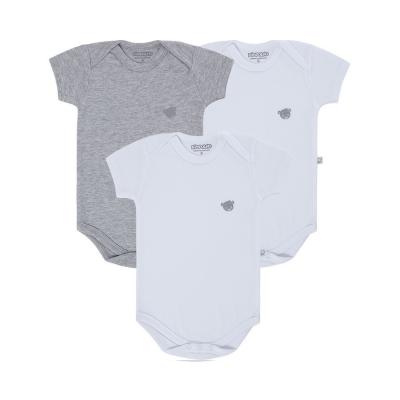body-basico-manga-curta-kit-3-pecas-pimpolho-branco-e-cinza