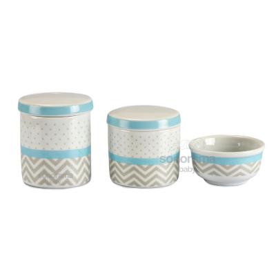 trio-de-potes-porcelana-3-pecas-chevron-cinza-e-poa-azul