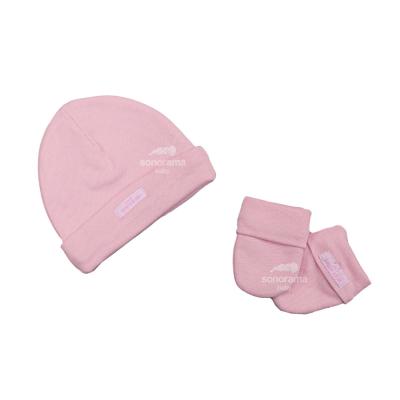 kit-touca-e-luva-bebe-rosa