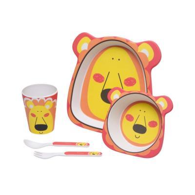 kit-alimentacao-eco-girotondo-baby-5-pcs-leao